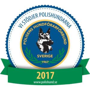 Vi stödjer Polishundarna 2017